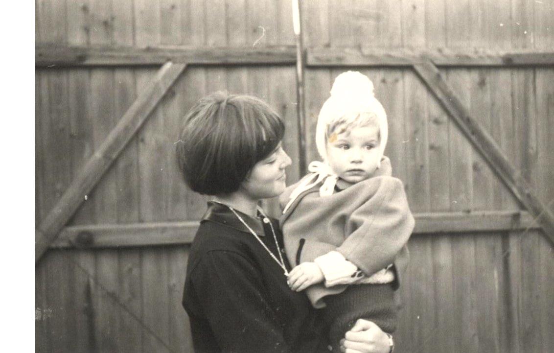 Hansi mit Cousine Sissi 1968
